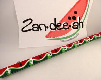 """Wood Watermelon jewelry hanger 16"""" long S-JHW16L-001"""