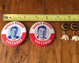 Rare Campaign Buttons: Ronald Reagan and Alf Landon