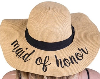 Maid of honor sun hat