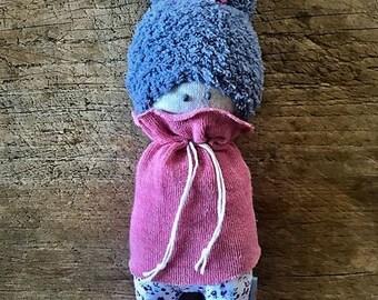 Doll Duster earrings - handmade rag doll - baby child blanket