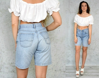 Mustang shorts Vintage High waisted mom jeans denim jean woman 1990's denim M/L