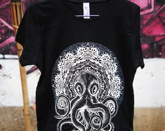 T-shirt - Mandala - Cthulhu - Black