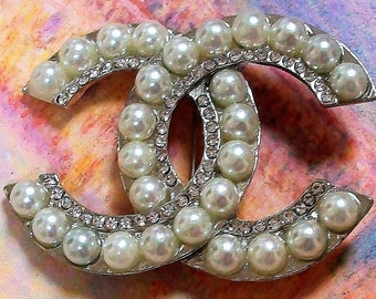 Necklace Faux Pearl & Crystals