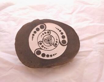 Crop Circle on cut stone