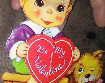 Sale-1939 Valentine Boy & Puppy