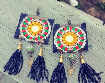 Ethnic Tribal Gypsy Boho Earrings