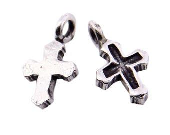 Thai Karen Hill Tribe Silver,Cross Shaped Karen Hill Tribe Handmade Charms,Charms,Karen Silver- KSC0159