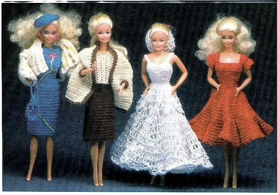Barbie Crochet Doll Clothes Barbie Dress Pattern Barbie Crochet