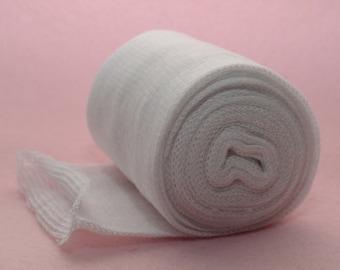 Tubular Gauze - Stockinette - White - For Inner Doll head - Sizes 2, 3, 4, 6, 8, 10 and 12 cm width