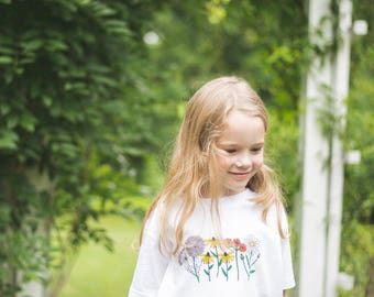 Wildflower Child Tee - by Moon Moppets