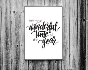 the most wonderful time of the year christmas printable joy instant download printable mistletoe jingle bells fa la la la la