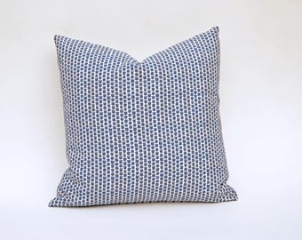 Lee Jofa Kaya Indigo Decorative Pillow Cover