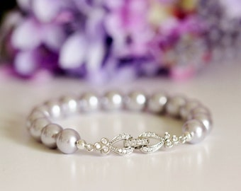 Lavender Lilac Purple Pearl Bracelet Lavender Wedding Bracelet Purple Bridesmaid Gift Bracelet Wedding Jewelry Pearl Bridal Bracelet