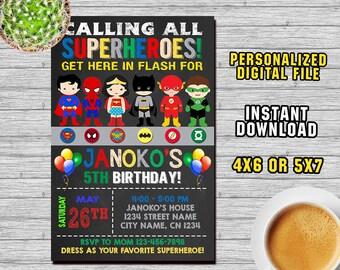 superhero superhero invitation superhero party superhero birthday superhero printable its time