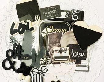 Embellishment Grab Bags: Black &White