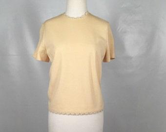 Vintage Ivory Knit Blouse
