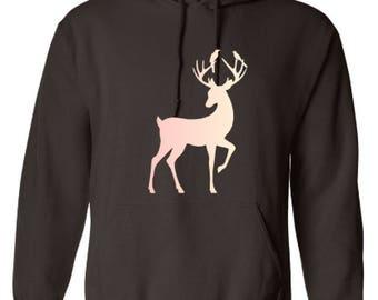 Deer Hoodie   Custom Hoodie   Hooded Sweatshirt   Custom Sweatshirt   Personalized Hoodie  Gildan Heavy Blend   Gift   Sweats   hunting