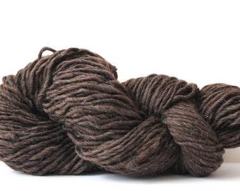 Chunky  100%  Wool  Hand Knitting Roving Yarn- Walnut Heather