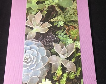 Succulent Card  Purple Note card - Blank inside Set of 3