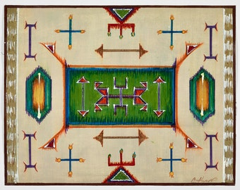Native American Placemat  Series  - Native American Rectangle