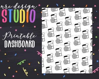 SALE Planner Dashboard Printable, Coffee Dashboard, Planner Girl Digital Paper, Printable Planner Paper - Planner Girl Coffee No. 04