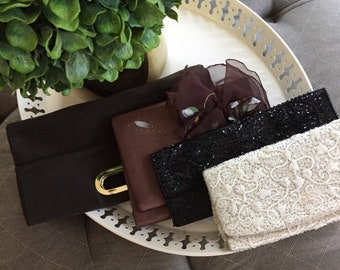 Lot of 4 Vintage Evening Bag Clutches