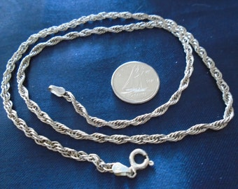 """Prince Of Wales Chain 2.5mm & 6.7g Sterling Silver Necklace (18"""")"""