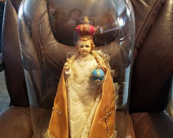 Infant of Prague W/Glass Dome
