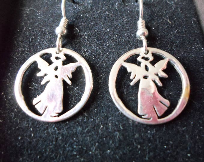 Angel earrings dime size