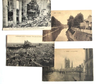 Antique paper collectable Post card collection post WWI France post war postcards