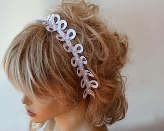 Lace  Wedding Headband, Pearl  Lace Bridal  Headband,  Bridal Hair Accessories,  Wedding Hair Accessories