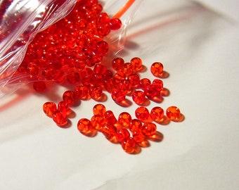 beads red 2.50mm diameter 135 grams