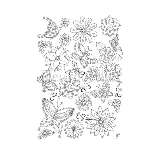 Malseite zum Ausdrucken Schmetterlinge Blumen Ausmalbilder
