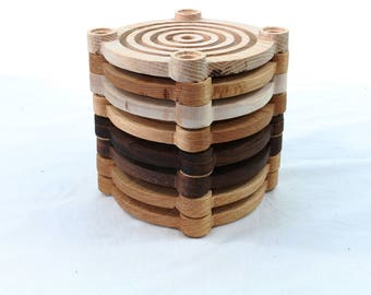 LaunchPad Drink Coasters - Set of 8 space-age coasters