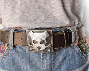 Dog Belt Buckle / Outlaw Doggy / Metal Belt Buckle/ Men's Belt Buckle/ Women's Belt Buckle/ Gift for Dog Lovers  /Holmes Dog / Doggie Buckle