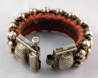Silver Tribal Poochi Silver Cuff Bracelet