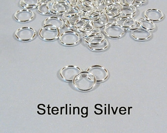 4mm 18ga Sterling Silver Jump Rings - Choose Your Quantity