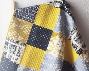 Modern Baby Quilt, Handmade Quilts For Sale, Toddler Quilt, Patchwork Quilt, Handmade Baby Quilt, Modern Crib Quilt