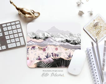 Mouse Pad Mountain Mouse Pad Floral Mousepad Nature Mouse Mat Summer Mouse Pad Office Mousemat Floral Mousemat Mousepad Round 39.