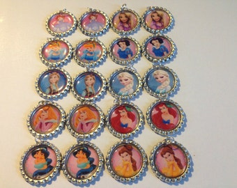 Disney Bottle Caps. Lot of 25. Amazing Party Gift. Only Few Left!!!!! Must Buy!