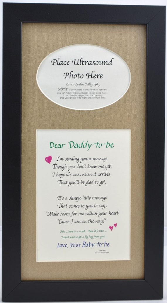 Father\'s Day Daddy to Be Ultrasound Frame 7x14 Choose