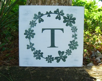Shamrock St. Patrick's Day Wooden Sign, Luck of the Irish, Green Shamrocks,St. Patrick's Day Decoration,Personalized Wooden Sign,Monogrammed