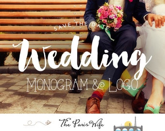 Custom Logo Design Wedding Monogram Logo Save the Date Logo Wedding Logo Design Custom Wedding Logo Design Arrows Logo Hearts Logo Design