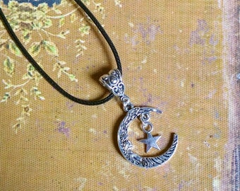 In the Moon and star necklace
