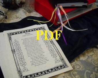 Alone by Edgar Allen Poe PDF -- Book of Shadows -- BOS page