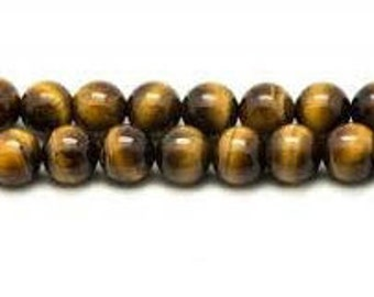 Tiger's eye beads 8 mm, wire