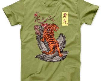 Japanese Tiger Tattoo T Shirt | Free Delivery to UK Customers | Various Colours Available