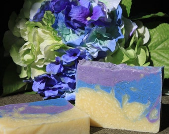 soap-hydrangea scented handmade soap