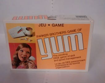 Vintage 1970s Yum Dice Game Complete