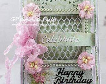 Handmade Celebrate Happy Birthday Card